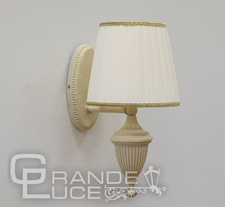 Бра 870/1A IVORY+IVORY SHADE, Nervilamp