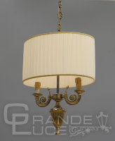 Люстра 870/2S BR.GOLD+IVORY SHADE, Nervilamp